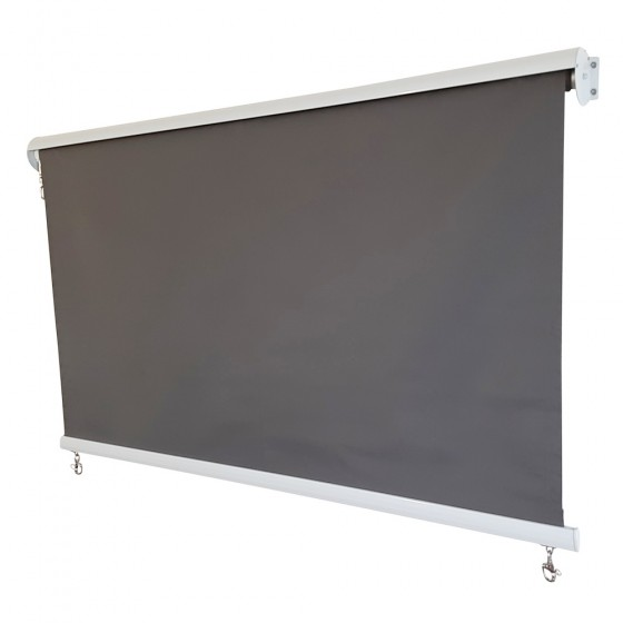 Grey Polyester Roller Blind with Aluminium Hood