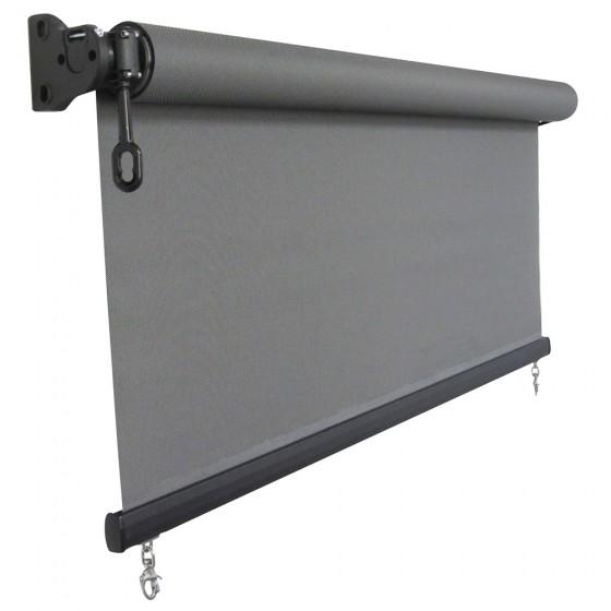 Charcoal Heavy Duty Custom Sunscreen Roller Blind