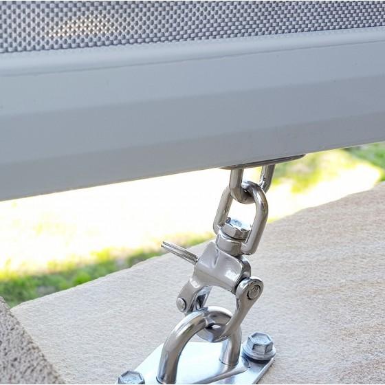 Pearl Grey Heavy Duty Custom Sunscreen Roller Blind