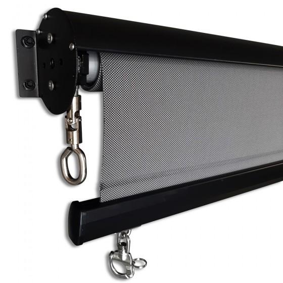 Charcoal Custom Sunscreen Roller Blind with Aluminium Hood