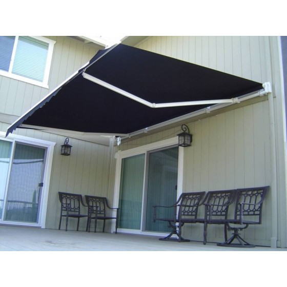Black Manual Retractable Awnings