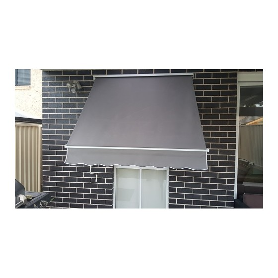 Polyester Pivot Arm Awning with Aluminium Hood