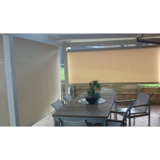 Cream Heavy Duty Custom Sunscreen Roller Blind